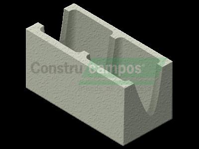 Canaleta 19x19x39 - ConstruCampos