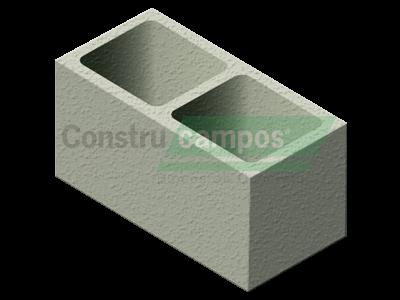 Bloco Estrutural Classe C (vedação) 19x19x39 - ConstruCampos