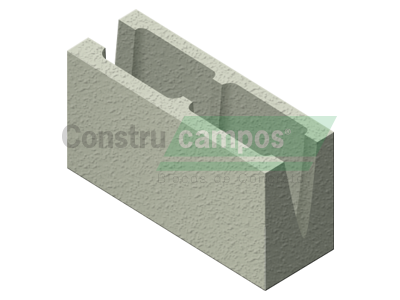 Canaleta 14x19x39 - ConstruCampos