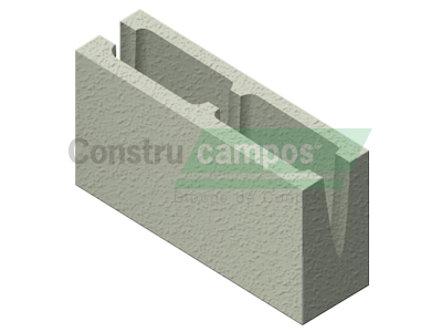 Canaleta 11,5x19x39 - ConstruCampos