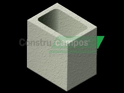 Meio Bloco Estrutural Classe A 14x19x19 - ConstruCampos