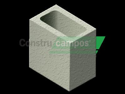 Meio Bloco Estrutural Classe A 11,5x19x19 - ConstruCampos