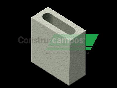 Meio Bloco Estrutural Classe A 09x19x19 - ConstruCampos