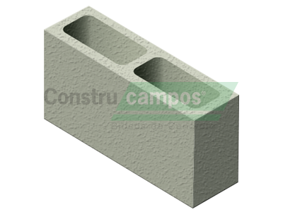 Meio Bloco Estrutural Classe B 11,5x19x19 - ConstruCampos