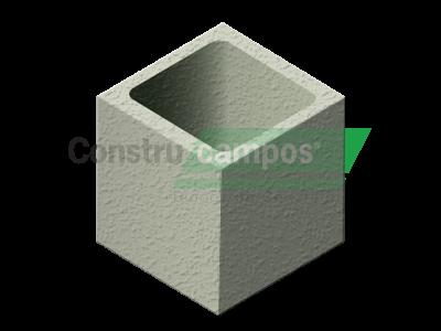 Meio Bloco Estrutural Classe C (vedação) 19x19x19 - ConstruCampos