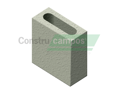 Meio Bloco Estrutural Classe C (vedação) 09x19x19 - ConstruCampos