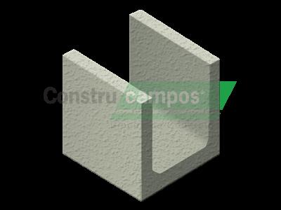 Meia Canaleta 19x19x19 - ConstruCampos