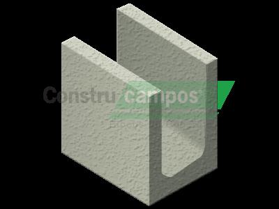 Meia Canaleta 14x19x19 - ConstruCampos