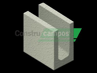 Meia Canaleta 11,5x19x19 - ConstruCampos