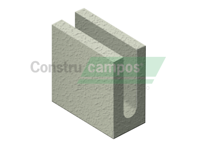 Meia Canaleta 09x19x19 - ConstruCampos