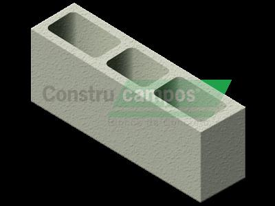 Bloco Estrutural Classe B 14x19x54 - ConstruCampos