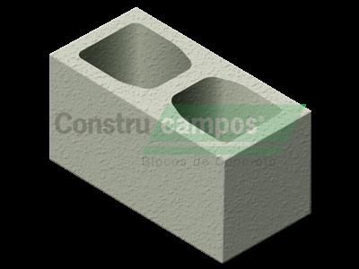 Bloco ESTRUTURAL CLASSE A 19X19X39 - ConstruCampos